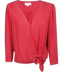 velvet lottie v-neck blouse
