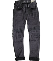 retour gian donkergrijze tapered fit jeans