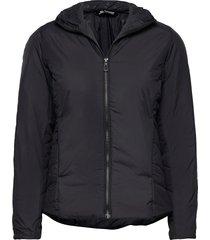 outrack insulated hoodie w outerwear sport jackets zwart salomon
