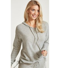 bliss cashmere tie detail hoody