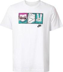 camiseta nike sportswear nsw ftwr branca - kanui
