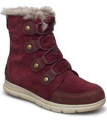 sorel explorer joan shoes boots ankle boots ankle boots flat heel röd sorel