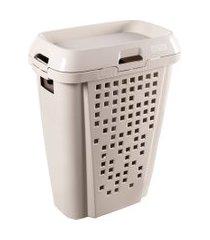 cesto de roupas astra 45 litros com compartimento removível