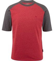 wolverine men's brower short sleeve raglan tee dark red heather, size xxl