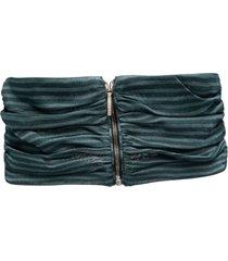missoni striped zip-detail belt - blue