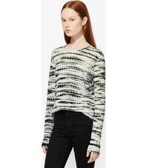proenza schouler long sleeve t-shirt lavender/green/black/multicolour xs