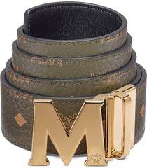 men's mcm claus reversible belt, size one size - sea turtle