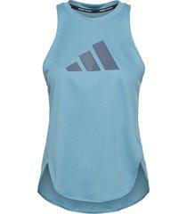 badge of sport tank top w t-shirts & tops sleeveless blå adidas performance