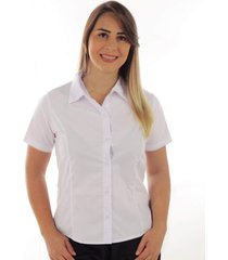 camisa camisete social premium feminino liso branco promoção