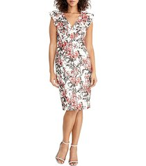 lydia floral lace sheath dress