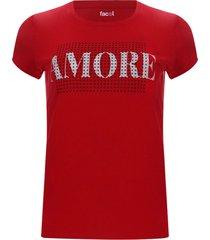 camiseta amore color rojo, talla s