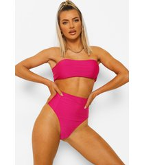 essentials high waist bikini brief, bright pink