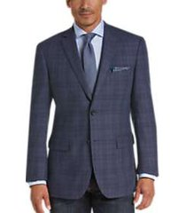 pronto uomo platinum modern fit sport coat blue plaid