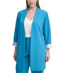 calvin klein plus size roll-sleeve topper jacket