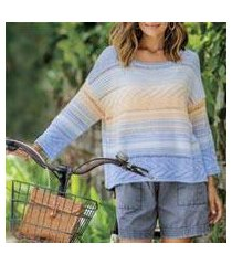 cotton blend pullover, 'sunset in spring' (peru)