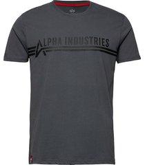 alpha industries t t-shirts short-sleeved grå alpha industries