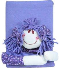 caderno feliz idade com capa de boneca multicolorido