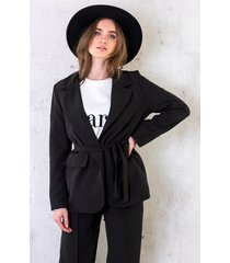 oversized blazer met strik zwart