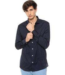 camisa azul airborn dot
