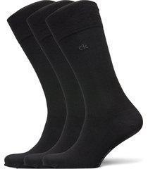 ck 3pk eric cotton 003 underwear socks regular socks svart calvin klein