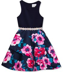 rare editions big girls embellished tiered dress