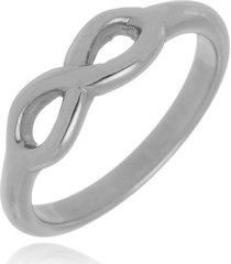 anel falange infinito di capri semi jóias x ouro branco prata - kanui
