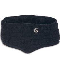 calvin klein chain cable-knit cold weather headband