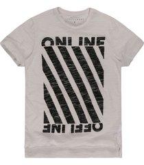 camiseta khelf devorê online off  white - kanui
