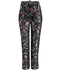 spodnie cygaretki żakardowe