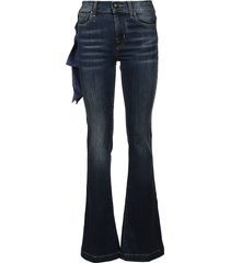 jacob cohen scarf detail flared jeans