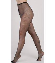 meia calça feminina trifil arrastão preta