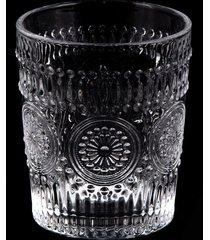 conjunto de 6 copos de cristal lodz - transparente