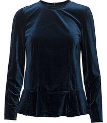 vera clara blouse blouse lange mouwen blauw bruuns bazaar