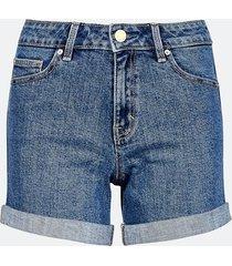 high waist shorts i denim - blå