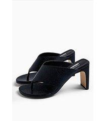 considered valdez vegan toe thong sandals - black