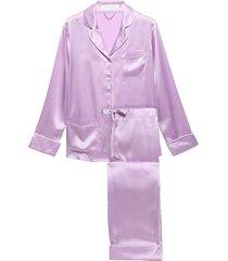 coco silk-charmeuse pajama set