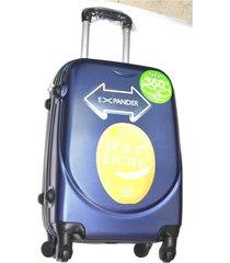 maleta fibra policarbonato 270 grande 28 pulgadas 4 ruedas - azul