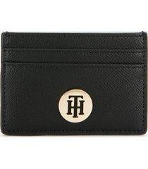 tommy hilfiger women's classic saffiano card holder - black