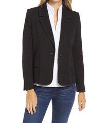 women's ming wang beaded knit jacket, size medium - black