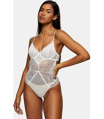 ivory lace bodysuit - ivory