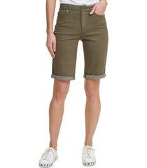 dkny jeans solid bermuda shorts