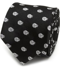 star wars millennium falcon metallic men's tie