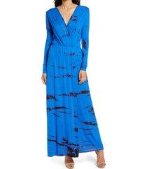 women's fraiche by j tie dye long sleeve maxi dress