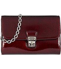 mini patent leather crossbody bag
