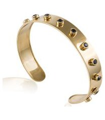 bracelete rivets slim amarelo c/diamante black - u
