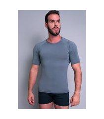 camisa térmica mvb modas masculina manga curta segunda pele cinza