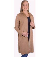 abrigo para mujer lebefy - camel