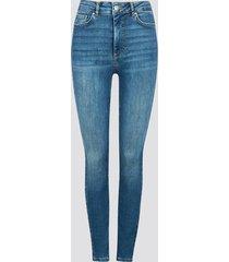 high waist curve skinny jeans - denim