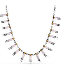 steve madden women's multi-color rhinestone bar necklace