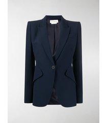 alexander mcqueen structured-shoulder tailored blazer